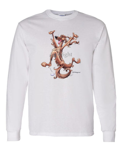 Irish Setter - Happy Dog - Long Sleeve T-Shirt