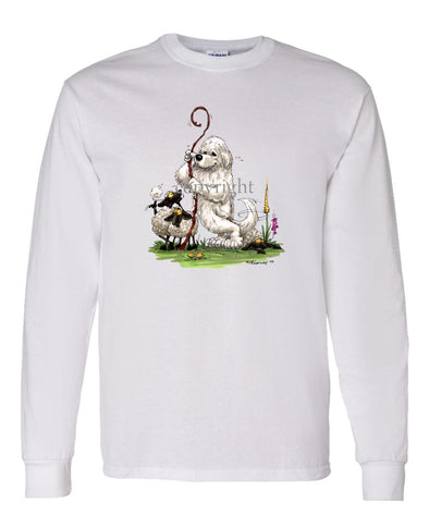 Great Pyrenees - Standing Guarding Sheep - Caricature - Long Sleeve T-Shirt
