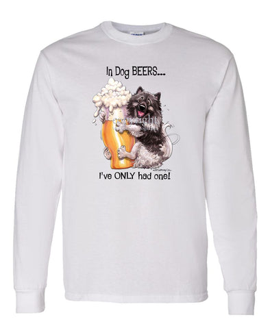 Keeshond - Dog Beers - Long Sleeve T-Shirt