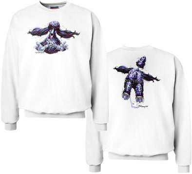 Poodle  Black - Coming and Going - Sweatshirt (Double Sided)