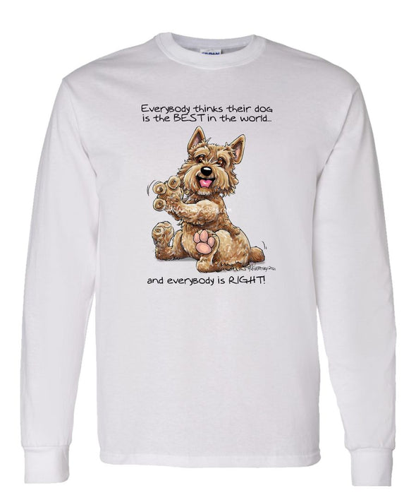 Norwich Terrier - Best Dog in the World - Long Sleeve T-Shirt