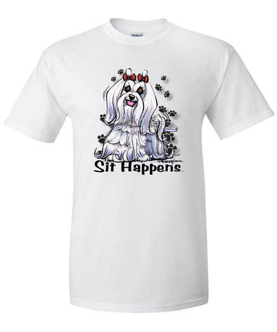 Maltese - Sit Happens - T-Shirt