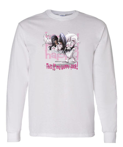 Papillon - 2 - Who's A Happy Dog - Long Sleeve T-Shirt