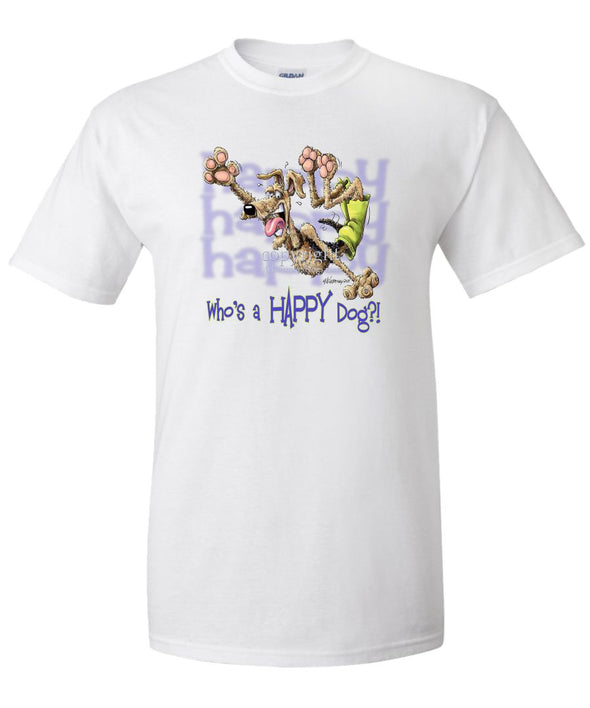 Airedale Terrier - Who's A Happy Dog - T-Shirt