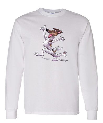 Smooth Fox Terrier - Happy Dog - Long Sleeve T-Shirt