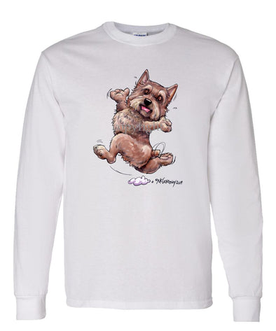 Norwich Terrier - Happy Dog - Long Sleeve T-Shirt