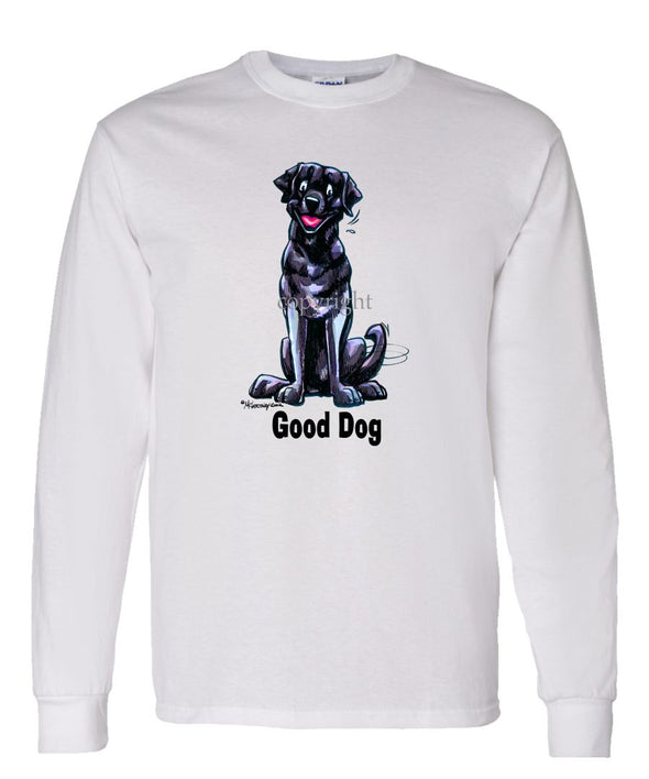 Labrador Retriever  Black - Good Dog - Long Sleeve T-Shirt