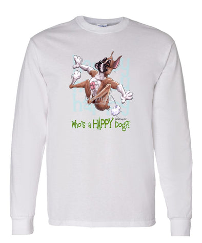 Boxer - Who's A Happy Dog - Long Sleeve T-Shirt