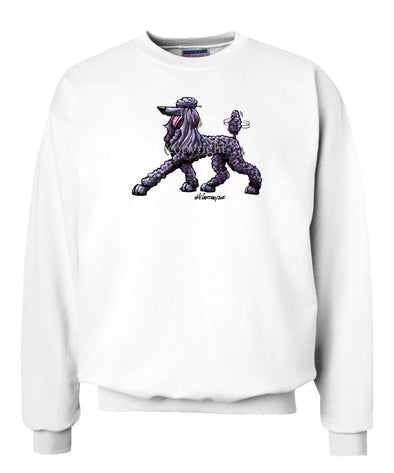 Poodle  Black - Cool Dog - Sweatshirt