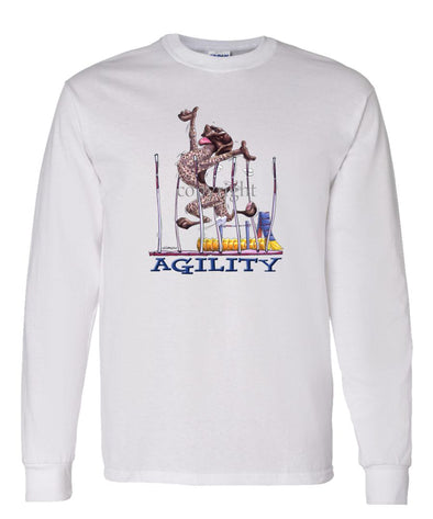 German Shorthaired Pointer - Agility Weave II - Long Sleeve T-Shirt