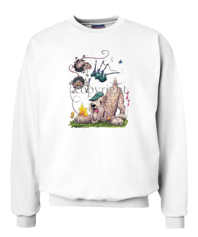 Soft Coated Wheaten - Bagpipes - Caricature - Sweatshirt