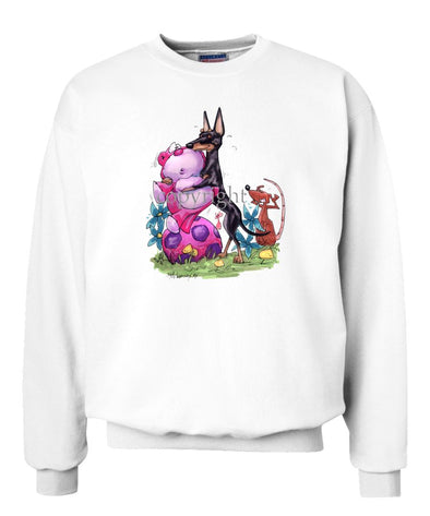 Manchester Terrier - With Toys - Caricature - Sweatshirt