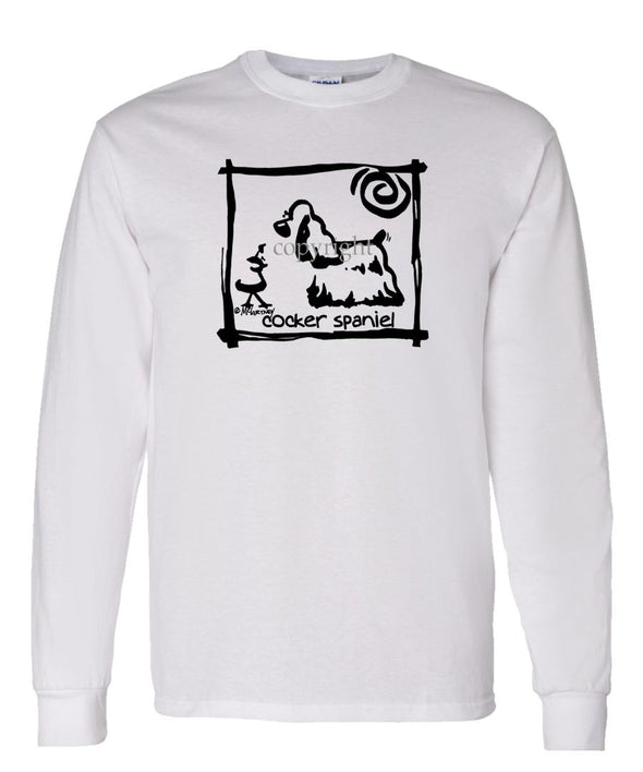 Cocker Spaniel - Cavern Canine - Long Sleeve T-Shirt