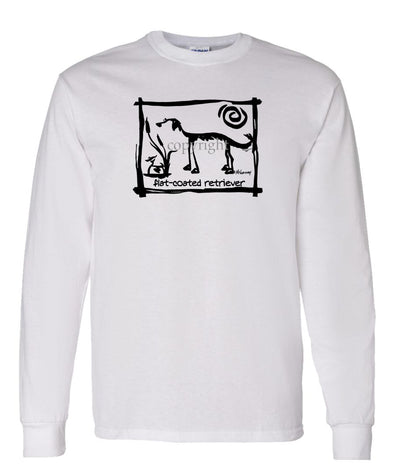 Flat Coated Retriever - Cavern Canine - Long Sleeve T-Shirt