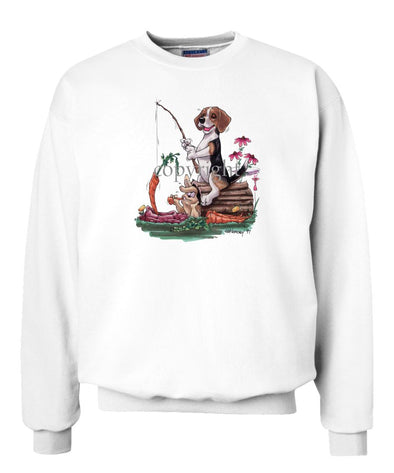 Beagle - Fishing With Carrot - Caricature - Sweatshirt