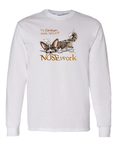 Welsh Corgi Cardigan - Nosework - Long Sleeve T-Shirt
