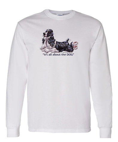 English Springer Spaniel - All About The Dog - Long Sleeve T-Shirt