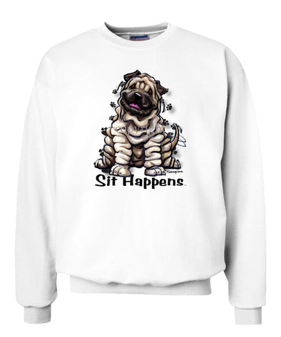 Shar Pei - Sit Happens - Sweatshirt
