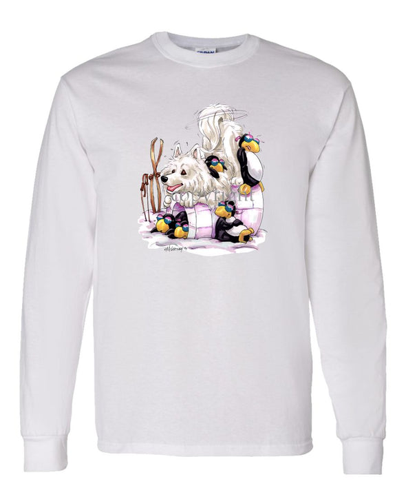 Samoyed - Igloo - Caricature - Long Sleeve T-Shirt
