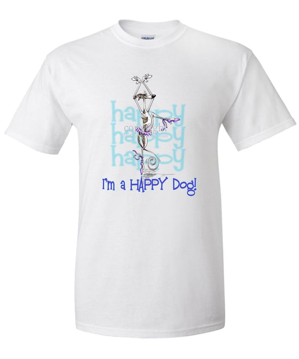 Whippet - 2 - Who's A Happy Dog - T-Shirt