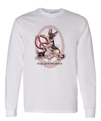 German Shepherd - Peace Dogs - Long Sleeve T-Shirt