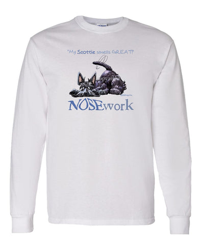Scottish Terrier - Nosework - Long Sleeve T-Shirt