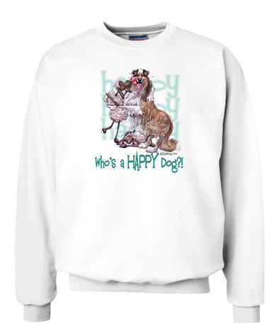 Collie - Who's A Happy Dog - Sweatshirt
