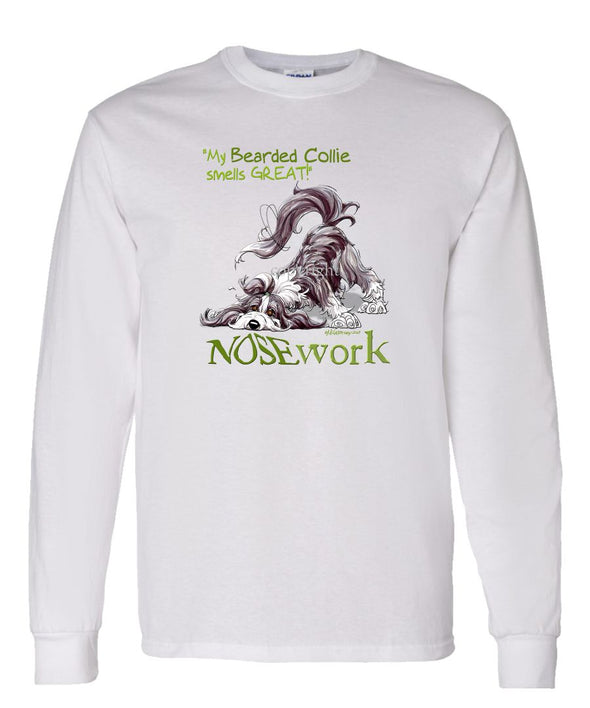 Bearded Collie - Nosework - Long Sleeve T-Shirt
