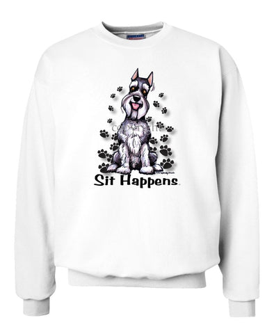 Schnauzer - Sit Happens - Sweatshirt