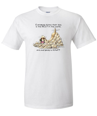 Cocker Spaniel - Best Dog in the World - T-Shirt