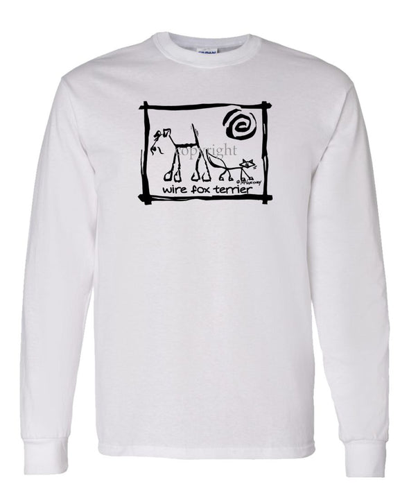 Wire Fox Terrier - Cavern Canine - Long Sleeve T-Shirt