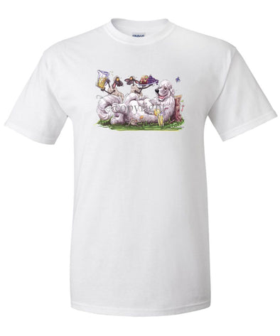 Great Pyrenees - Sheep Serving Lemonade And Fruit Plate - Caricature - T-Shirt