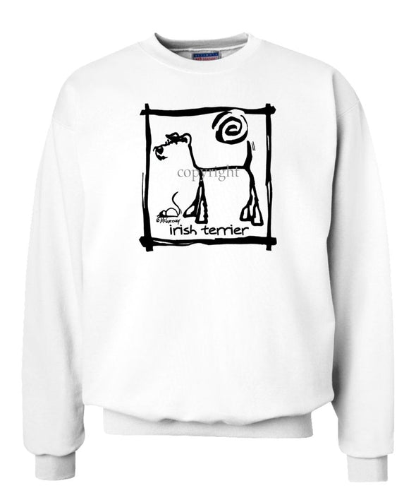 Irish Terrier - Cavern Canine - Sweatshirt