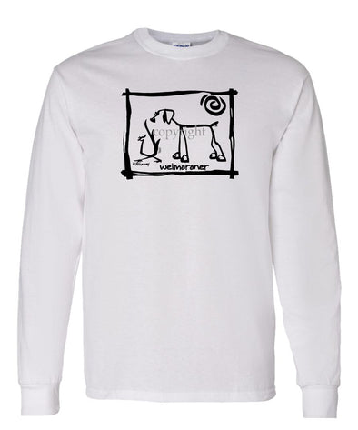Weimaraner - Cavern Canine - Long Sleeve T-Shirt