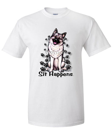Norwegian Elkhound - Sit Happens - T-Shirt