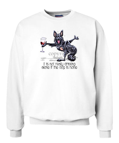 Belgian Sheepdog - It's Drinking Alone 2 - Sweatshirt