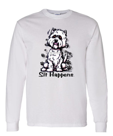 West Highland Terrier - Sit Happens - Long Sleeve T-Shirt