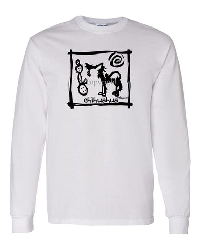 Chihuahua  Longhaired - Cavern Canine - Long Sleeve T-Shirt