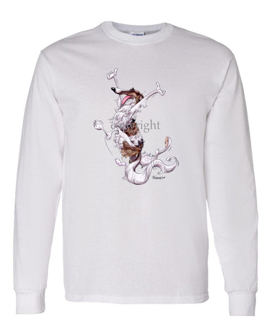 Borzoi - Happy Dog - Long Sleeve T-Shirt