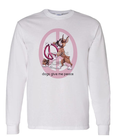 Boxer - Peace Dogs - Long Sleeve T-Shirt