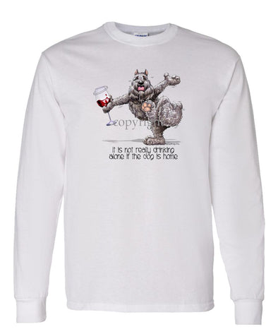 Bouvier Des Flandres - It's Drinking Alone 2 - Long Sleeve T-Shirt