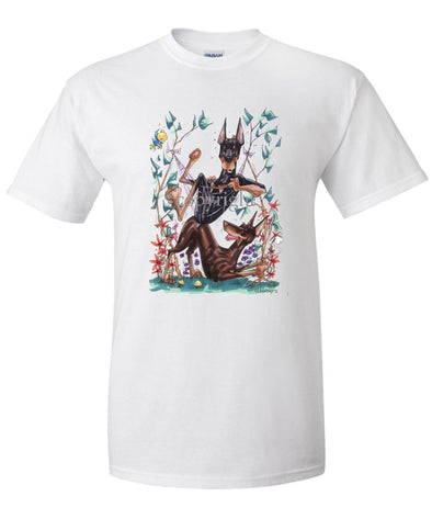 Doberman Pinscher - Group Hommock - Caricature - T-Shirt