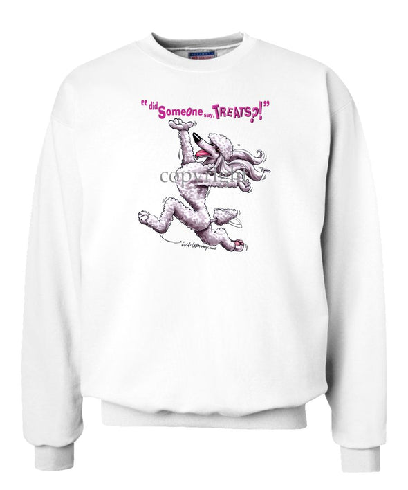 Poodle  White - Treats - Sweatshirt