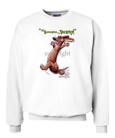 Dachshund  Smooth - Treats - Sweatshirt