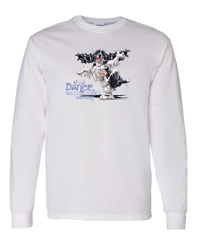 English Springer Spaniel - Dance Like Everyones Watching - Long Sleeve T-Shirt