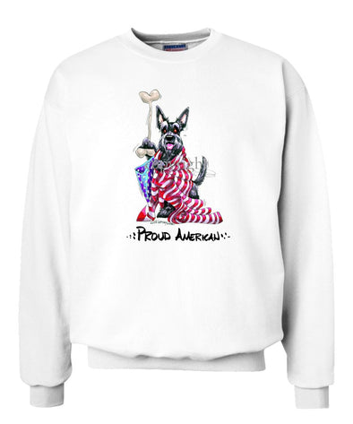 Scottish Terrier - Proud American - Sweatshirt