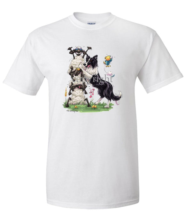 Border Collie - Stacking Sheep - Caricature - T-Shirt