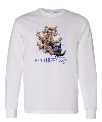 Yorkshire Terrier - Who's A Happy Dog - Long Sleeve T-Shirt