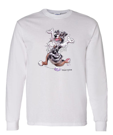 Australian Shepherd  Blue Merle - Happy Dog - Long Sleeve T-Shirt