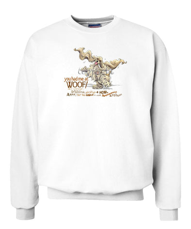Cocker Spaniel - You Had Me at Woof - Sweatshirt